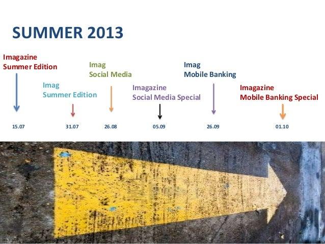 SUMMER 2013 Imagazine Summer Edition Imag Summer Edition Imag Social Media Imagazine Social Media Special Imagazine Mobile...