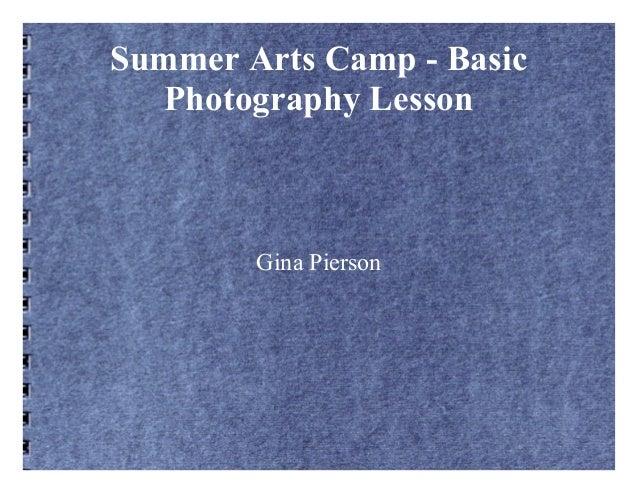 Summer arts camp    basic photography