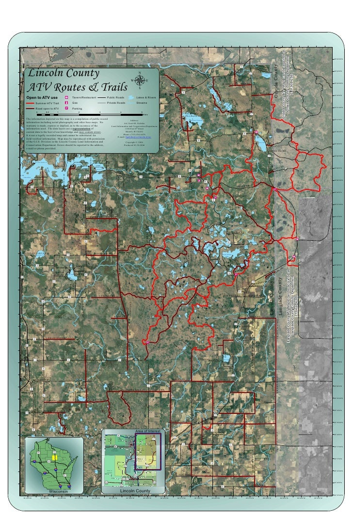 Oneida County ATV Maps can be acquired at:                                                                                ...