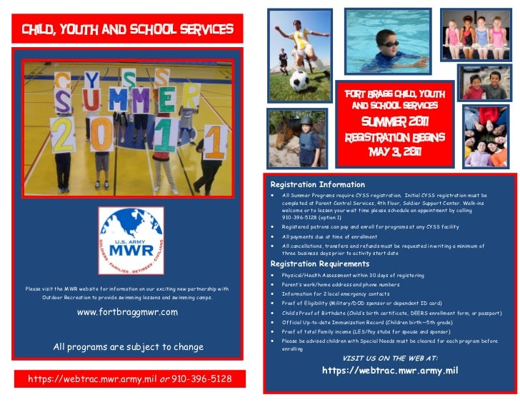 Child, Youth and School Services                                                                                          ...