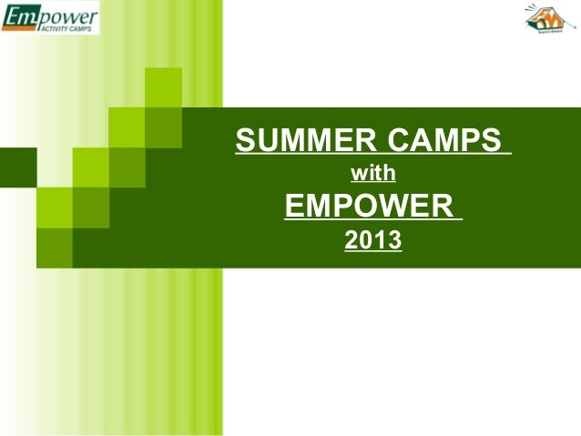 Summer Camps @ Empower -2014