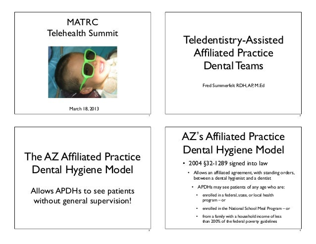 Teledentistry-Assisted Affiliated Practice Dental Teams