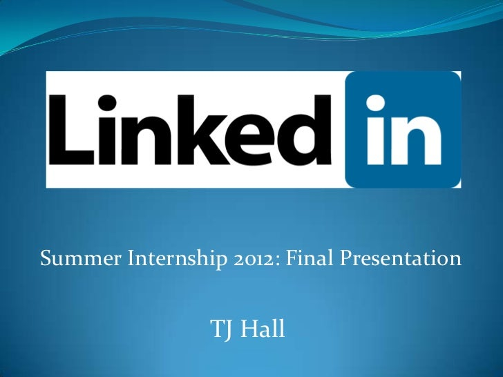 Summer Final Presentation