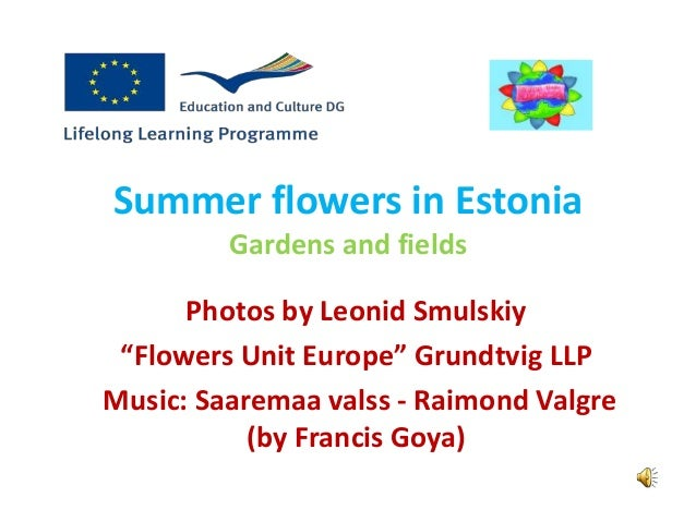 """Summer flowers in Estonia Gardens and fields Photos by Leonid Smulskiy """"Flowers Unit Europe"""" Grundtvig LLP Music: Saaremaa..."""
