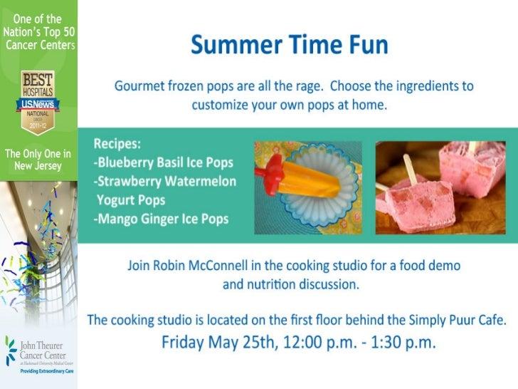 Summer Fun Recipes May 25