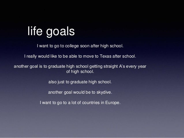 my goals after college essay