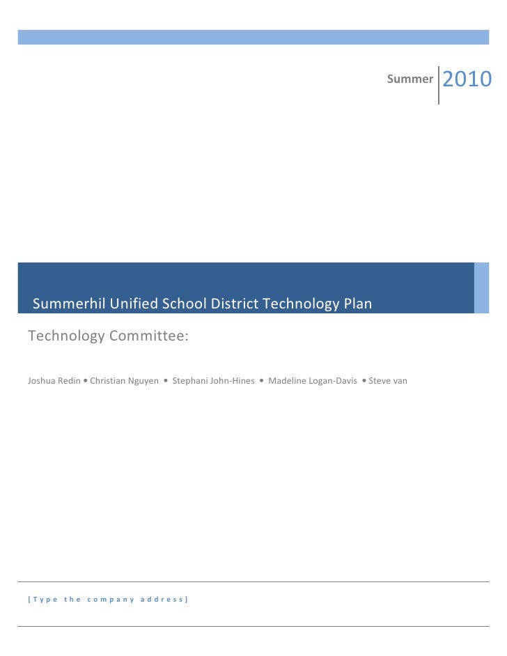Summerhil unified school district technology plan2