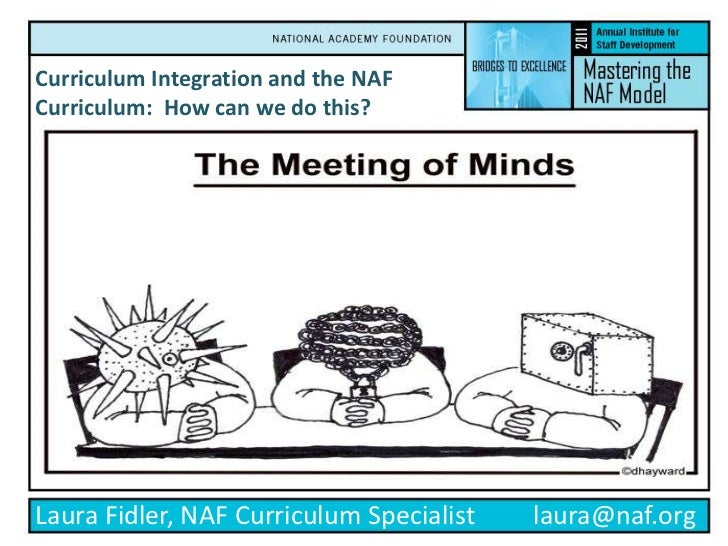 Curriculum Integration and the NAF Curriculum:  How can we do this?<br />Laura Fidler, NAF Curriculum Specialist         l...