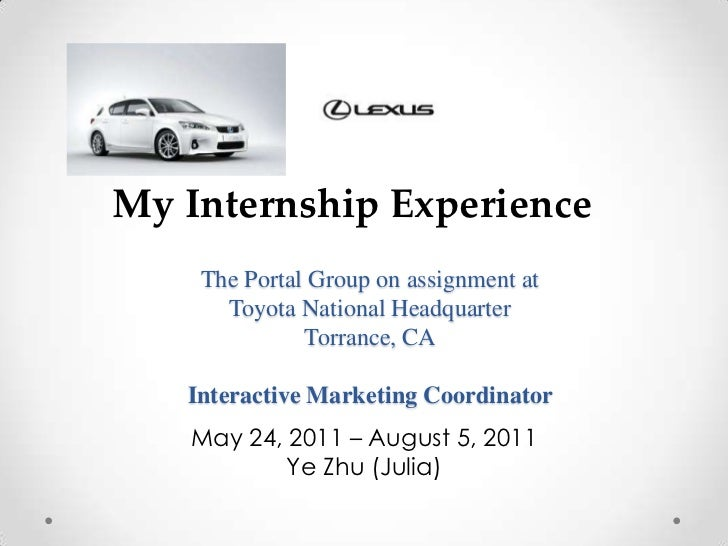 internship learning experience essay Guidelines for writing an experiential learning essay the kolb model: the relationship between learning and experience david kolb presents a model of experiential learning.