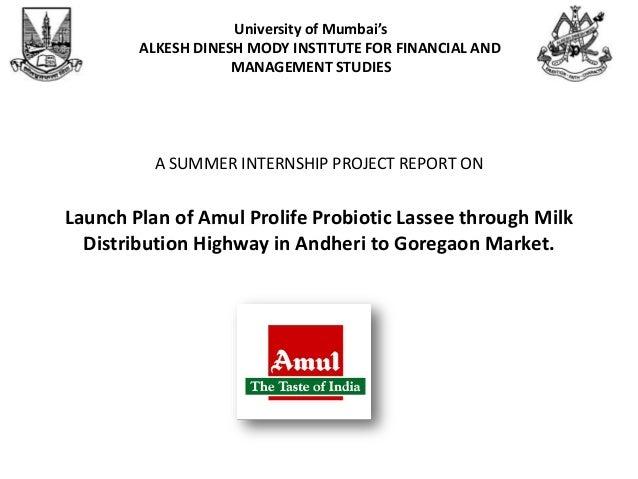 Summer internship project amul gcmmf