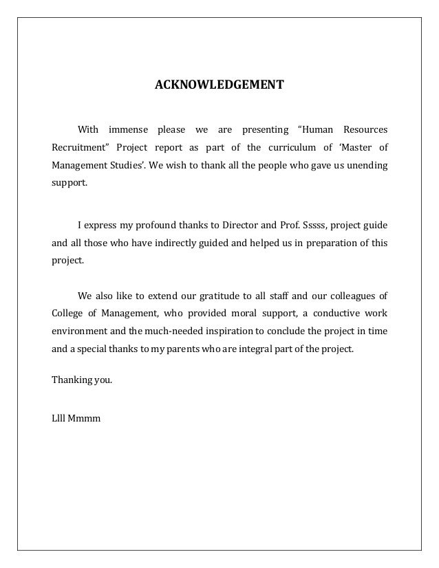 mba project report in hr Mba management project report management project submitted to nimbas graduate school of management in accordance with the rules of the university of bradford.