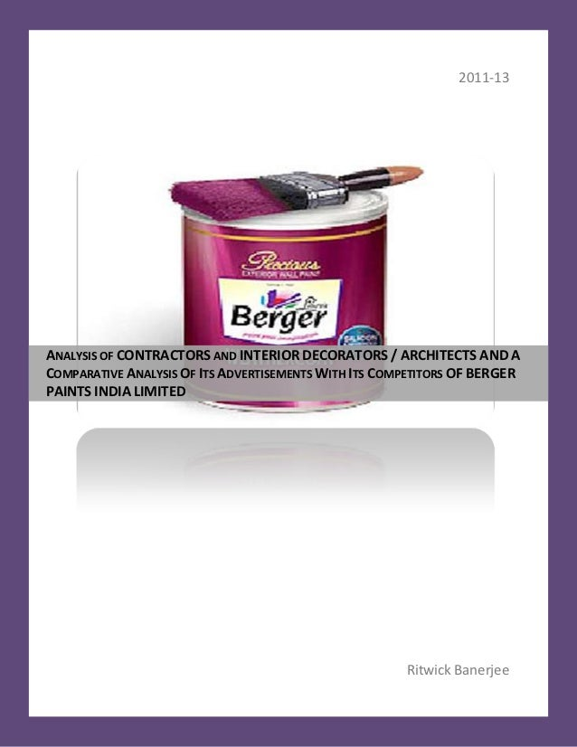 marketing strategy of berger paint internship report This report covered the strategies of the berger paint bangladesh limited  in  formulating strategies the company first makes swot analysis on the basis of   this internship report is submitted in a partial fulfillment of the.