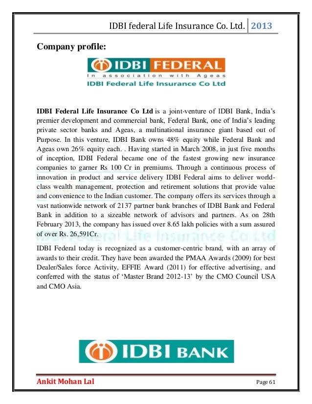 idbi federal life insurace company