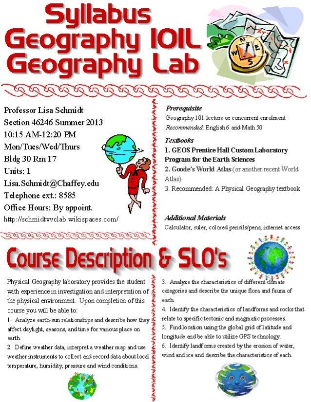 Summer lab syllabus 2013