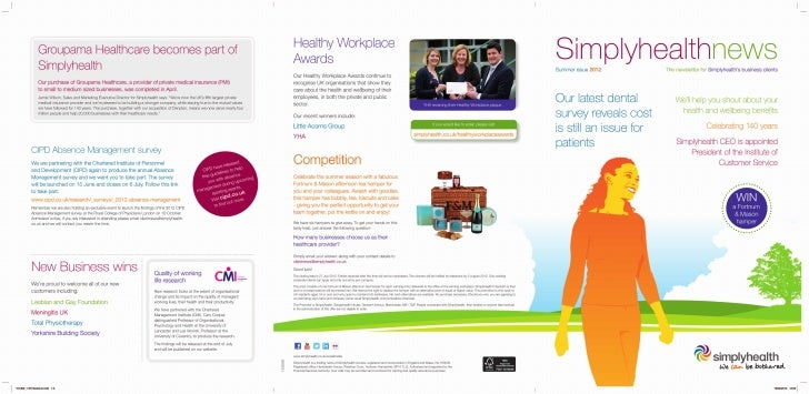 Simplyhealth news for Business Clients - Summer 2012