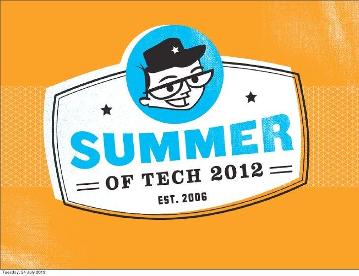 Summer of tech  - Career Seminar 2012