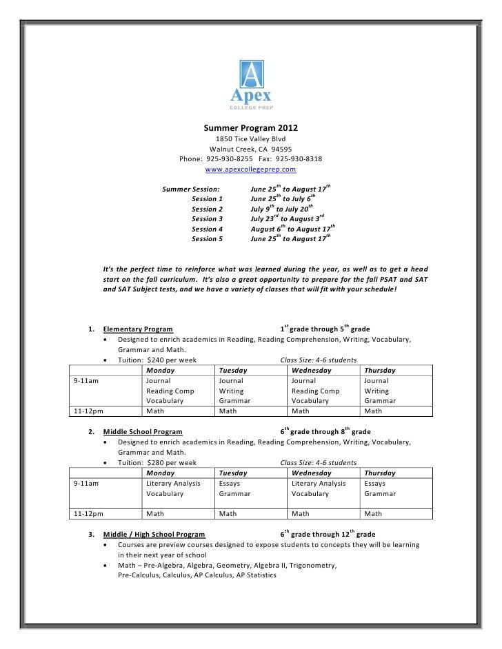 Summer Program 2012                                        1850 Tice Valley Blvd                                       Wal...