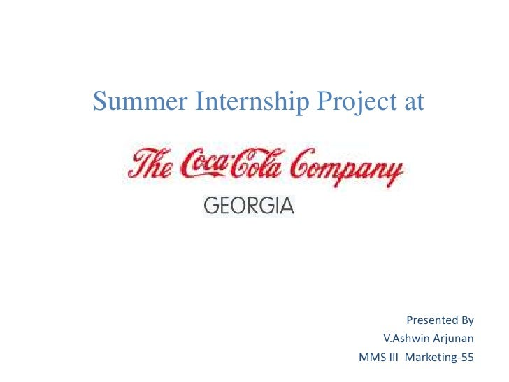Summer project @coke georgia by ashwin