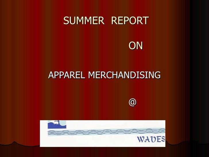 Summer Project Report   Manu