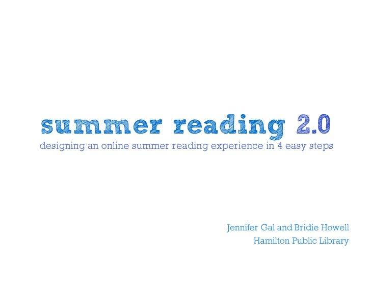 Summer Reading 2 0