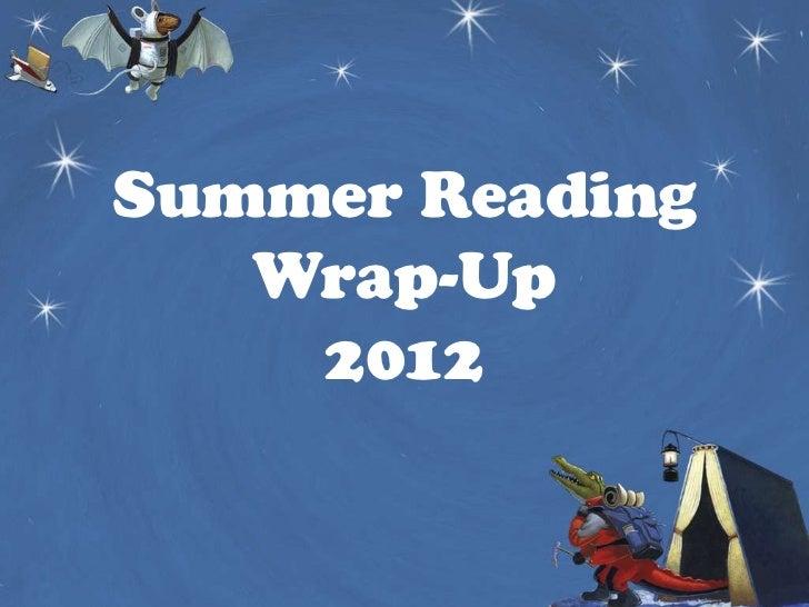 Summer reading 2012 final report