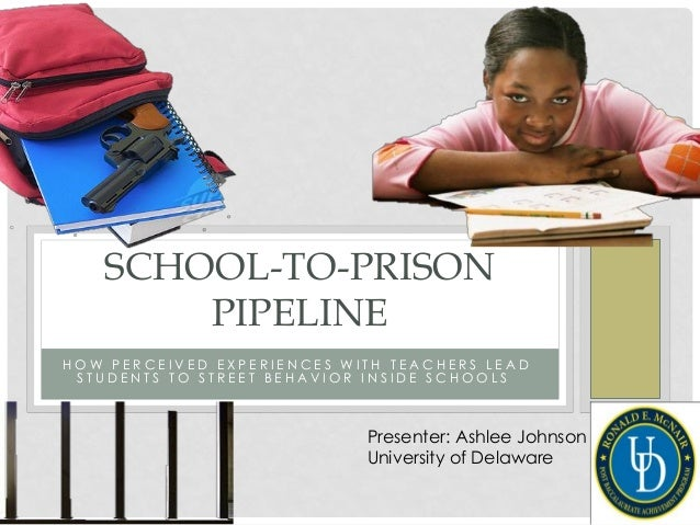 SCHOOL-TO-PRISON PIPELINE HOW PERCEIVED EXPERIENCES WITH TEACHERS LEAD STUDENTS TO STREET BEHAVIOR INSIDE SCHOOLS  Present...