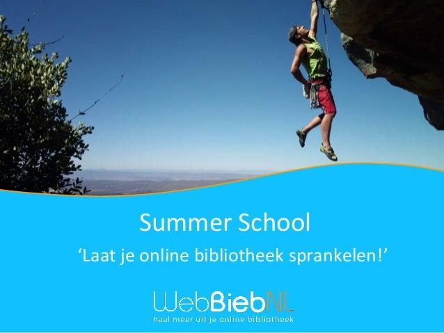 'Laat je online bibliotheek sprankelen!' Summer School