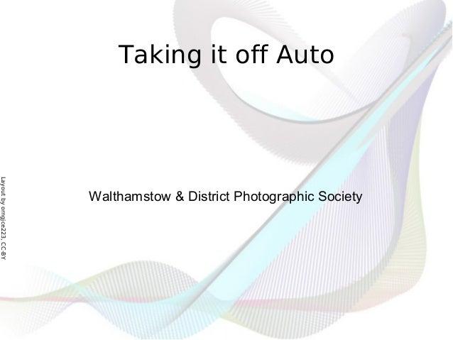 Taking it off Auto