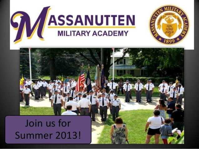 Join us forSummer 2013!