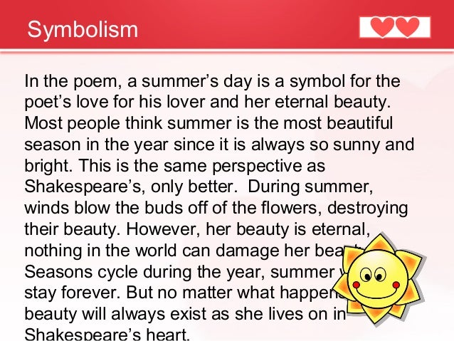Where could I find information about the summer season and what it symbolizes?