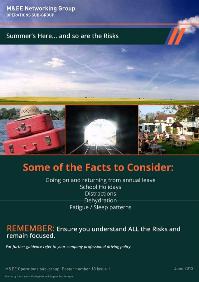 Summer's here . . . .  and so are the risks