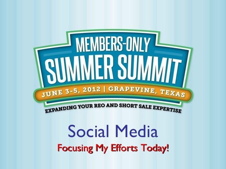Summer summit social media