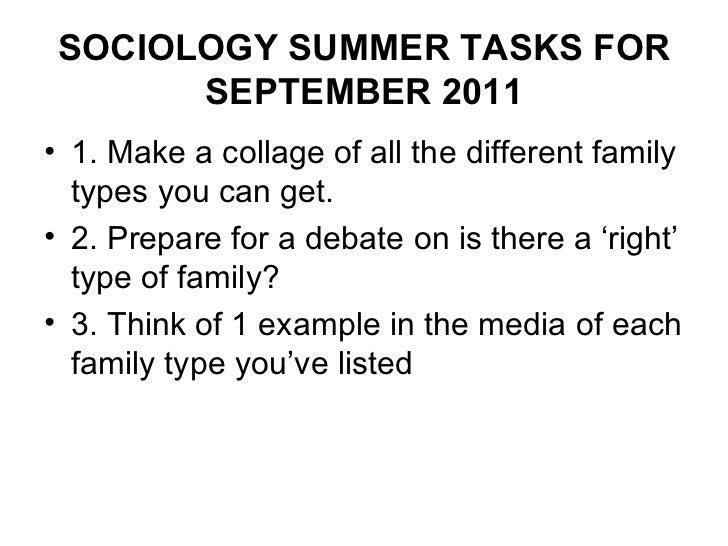 Summer tasks for september 2011