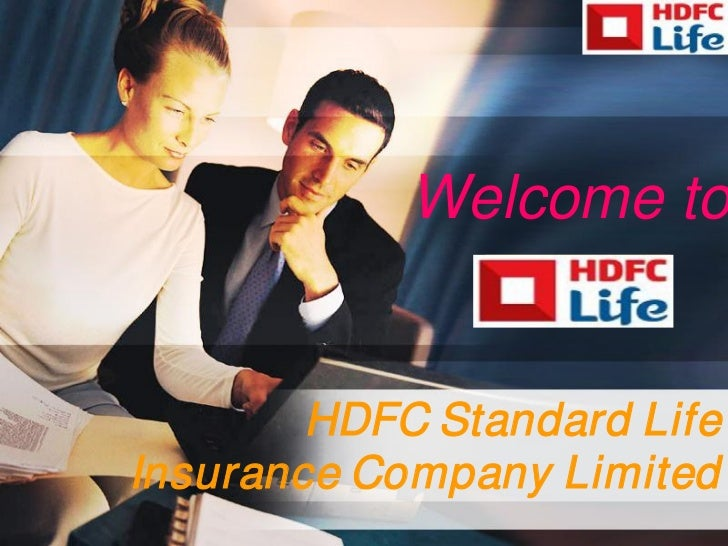 Welcome to        HDFC Standard LifeInsurance Company Limited