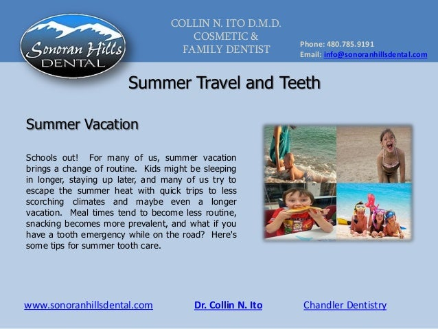 Summer Travel and Teeth