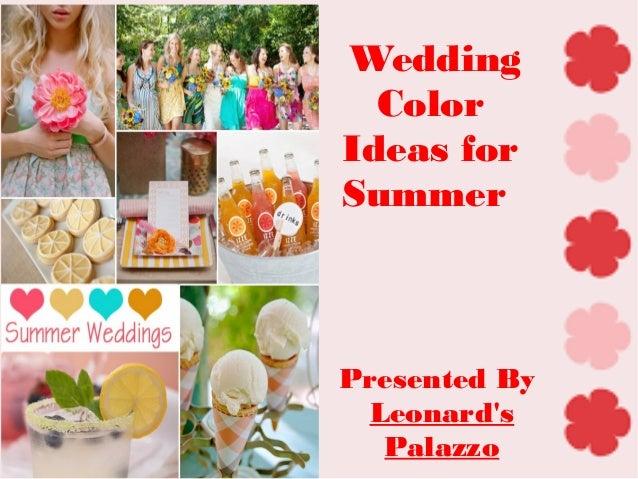 Summer Wedding Color Ideas