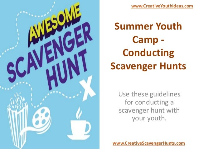 Summer Youth Camp - Conducting Scavenger Hunts