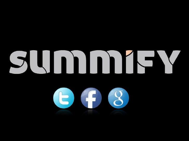 Summify Pitch
