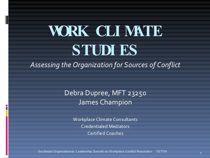 Summit 10 09 Work Climate Studies
