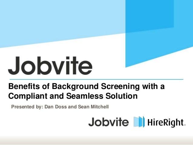 Summit14 S2: Background Screening Integration - Tenable & HireRight