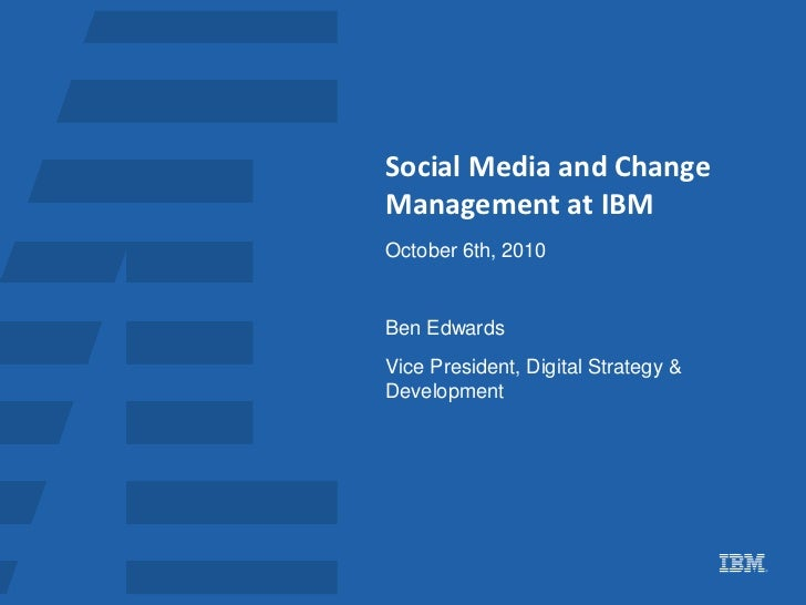 Playing Together: How IBM is Bringing the Outside Inside by Ben Edwards