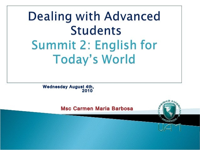Summit 2 workshop ms carmen maria barbosa august 2010