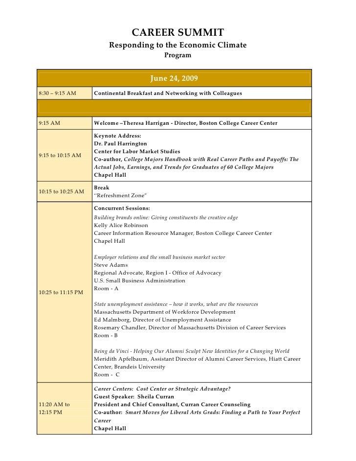 Summit Conference Agenda