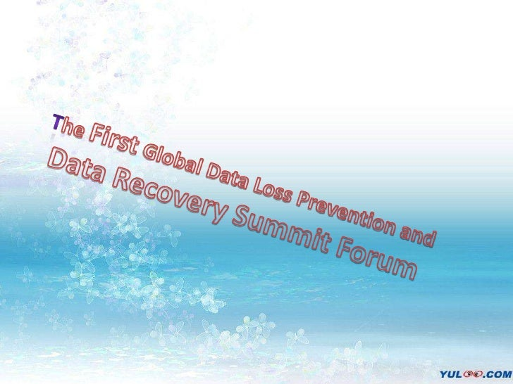The First Global Data Loss Prevention and <br />Data Recovery Summit Forum<br />