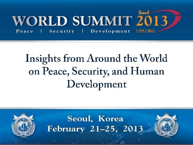 World Summit participants were greeted by international leaders of the Universal PeaceFederation (left to right): Dr. Chan...