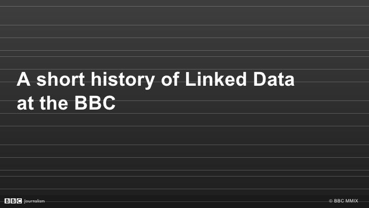 A short history of Linked Data at the BBC