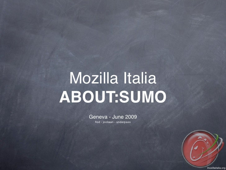 SUMO and Mozilla Italia