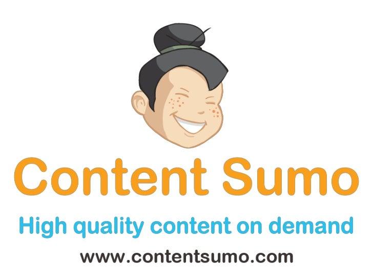 ContentSumo: A Demo