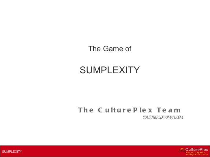 Sumplexity