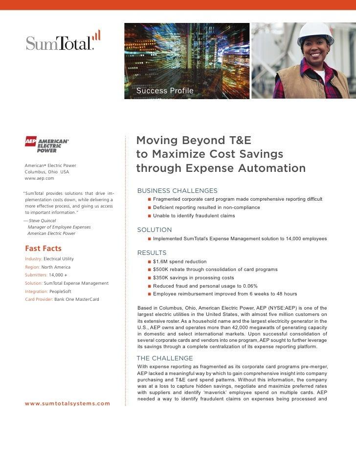 Success Profile                                                Moving Beyond T&E                                          ...